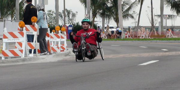 Hand cycling event